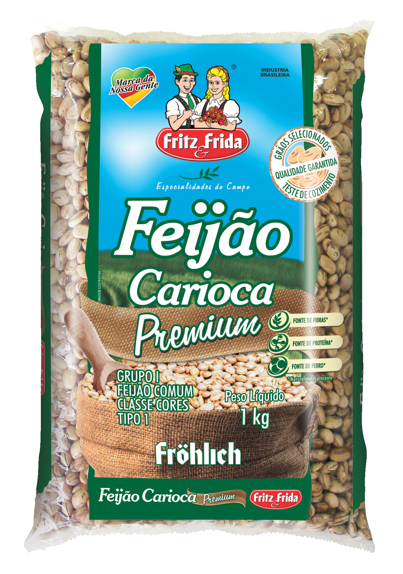 FEIJÃO CARIOCA PREMIUM 1KG