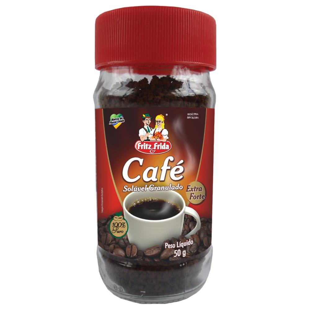 CAFE SOLUVEL EX.FORTE FRITZ&FRIDA 50G VIDRO